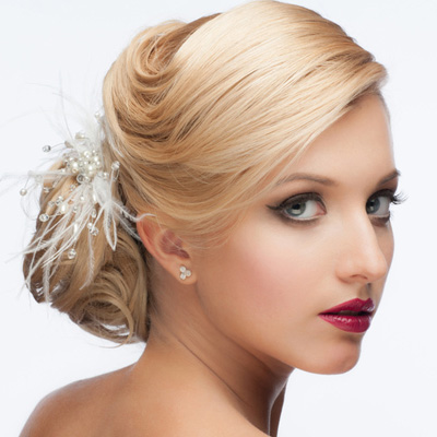 Girl with blonde air in updo 2016